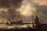 Ships in a Gale, by Dominic Serres
