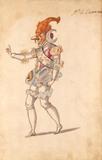 Ballet costume design for a grotesque astrologer