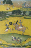 Nat Ragini showing a mounted warrior in combat with a foot soldier