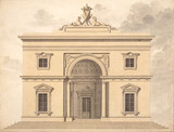 Design for an elevation of Peruzzi Casino, by Sir William Chambers