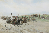 A Fair in Andalusia with horse racing, by Baldomer Galofre Giménez