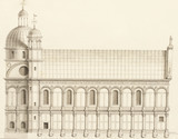 Drawing of the Chiesa sopra il Canale, by Antonio Visentini