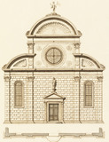 Drawing of the facade of the S. Giovanni Muraro