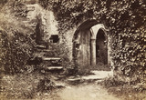 Entrance to the guard room in The Berry Pomeroy Castle, photo Francis Frith