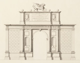Drawing of the Arco Dordine, by I. Bocher