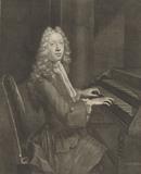 Portrait of the organist Mr John Robinson