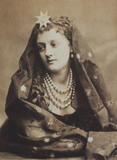 Louise Clare in character, photo London Stereoscopic Company