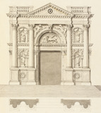 Drawing of the main door of the Chiesa Salute, by Antonio Visentini