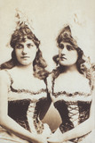 Flo Bilton and Belle Bilton in costume