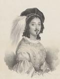 Portrait of Dionilla Santolini in the opera Eustorgia da Romano