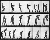 Leapfroging men, photo Eadweard Muybridge