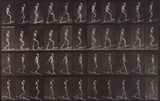 Man ascending and descending incline, photo Eadweard Muybridge