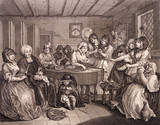 The Funeral, by William Hogarth