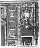 Design for a fireplace, by Daniel Marot