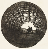 Design for a stage scene in King Lear, by Edward Gordon Craig
