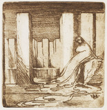Design for the play Niobe, by Edward Gordon Craig