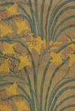 Wallpaper of Lily pattern, by Walter Crane
