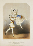 Adele Dumilatre and Henri Desplaces performing a pas de deux in The Corsair