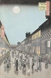 Sarawaka Cho Street, by Utagawa Hiroshige