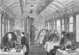 Dining Car on The Great Northern Railway