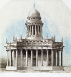 Design for a building in classical style, by Samuel Huggins