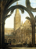 South view of Salisbury Cathedral, by J.M.W. Turner