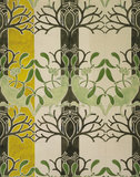 Birds and Mistletoe Wallpaper, by C.F.A. Voysey
