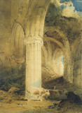 Ruins of Rievaulx Abbey, Yorkshire, by John Sell Cotman