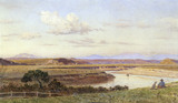 View of the River near Aquacertosa, Italy, by John Collingham Moore