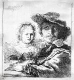 Self Portrait with Saskia, by Rembrandt