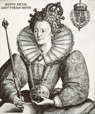 Engraving of queen elizabeth 1