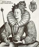 Engraving of queen elizabeth 1