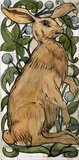 Seated Hare and Fruiting Foliage, by William de Morgan