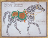 A Calligraphic drawing of a horse