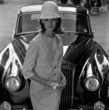 Model and car