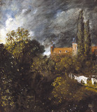 Landscape with Red House, by John Constable