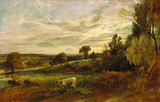 Summer Evening Near East Bergholt, by John Constable