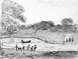 Fishing with a Net on the Lake in Wivenhoe Park, by John Contable
