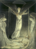 Angels Rolling Away the Stone from the Sepulchre, by William Blake