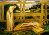 Christ Child Lying on a Cross, by William Blake