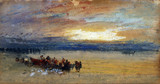 Shore scene, Sunset, by J.M.W. Turner