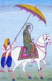 Ranjit Singh on horseback