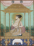 Shah Jahan seated on Peacock Throne