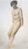 Academic Study of A Male Nude, by William Mulready