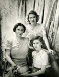 Queen Elizabeth, the Queen Mother, Princess Margaret and Queen Elizabeth II