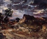 A Country Road and Sandbank, by John Constable