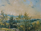 Sketch at Hampstead, Stormy Sunset, by John Constable