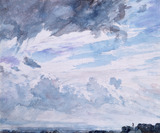 Study of clouds above a wide landscape, by John Constable