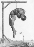 A Negro hung alive by the ribs to a gallows, by William Blake