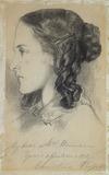 Christina Rossetti at the age of 16, by Dante Gabriel Rossetti